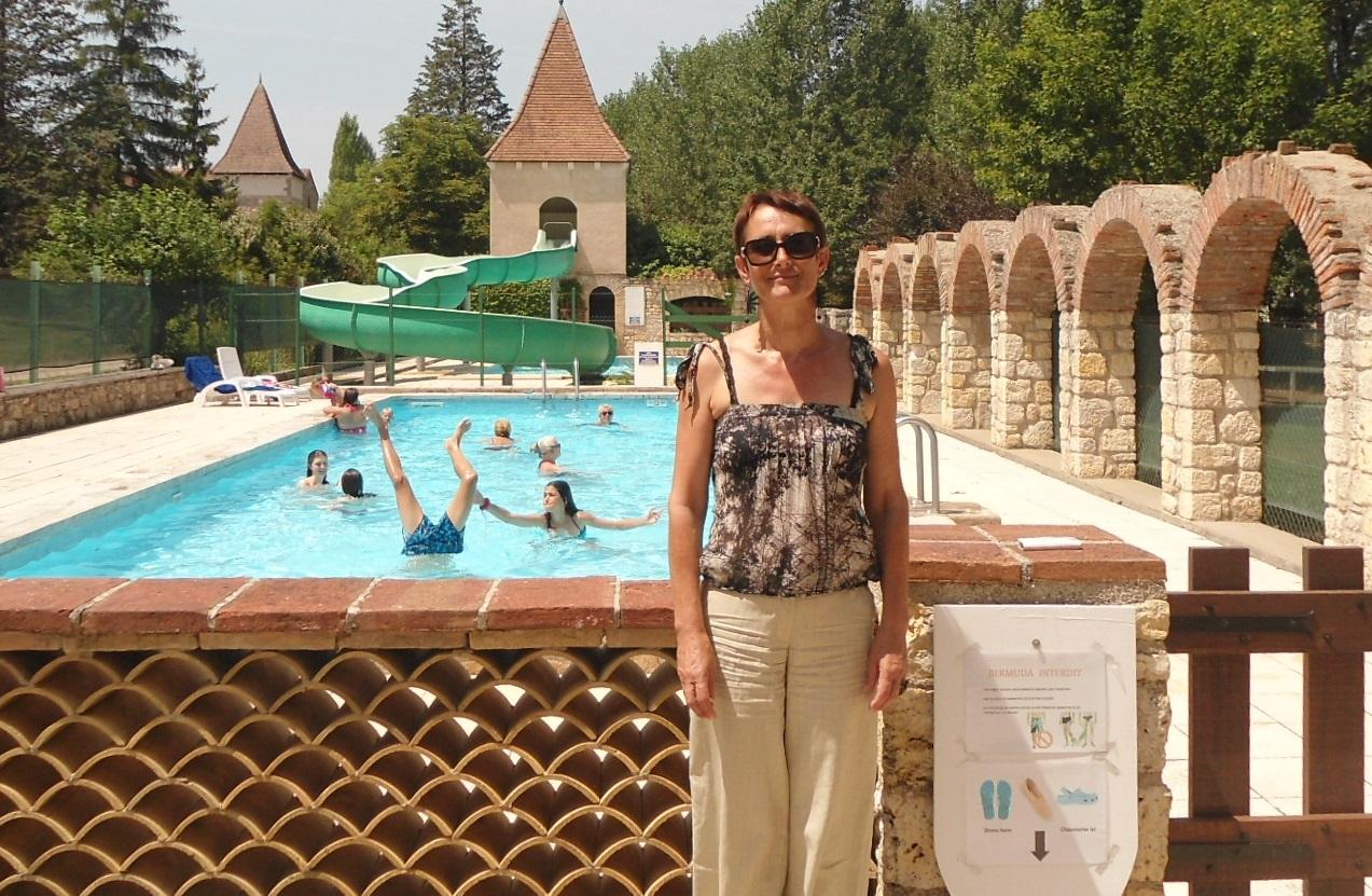 Betty à la piscine